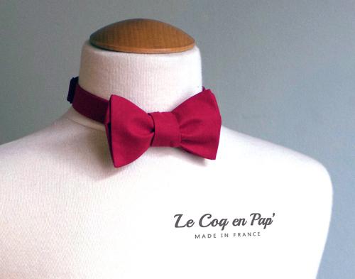 Noeud papillon Framboise uni le Coq en Pap France