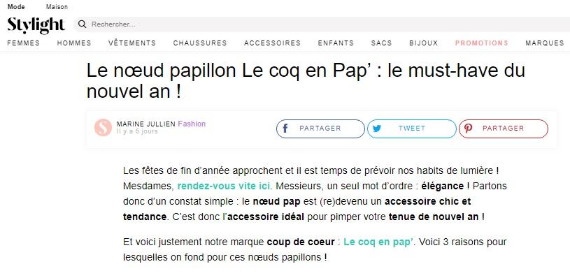 Stylight parle de Le Coq en Pap'